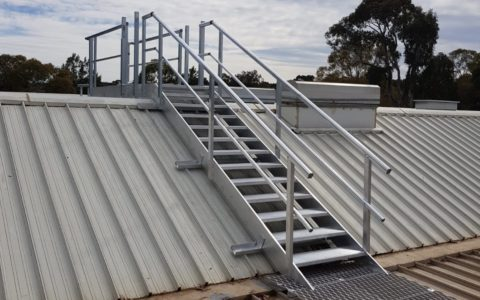 Wanniassa Stair over Sawtooth roofs